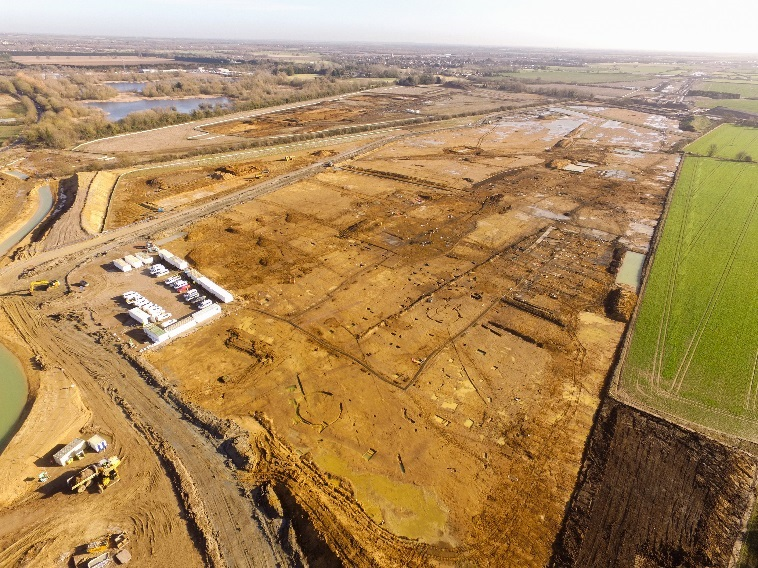 Around 1.35 square miles of archaeology is being investigated on A14C2H (c) A14C2H courtesy of MOLA Headland Infrastructure