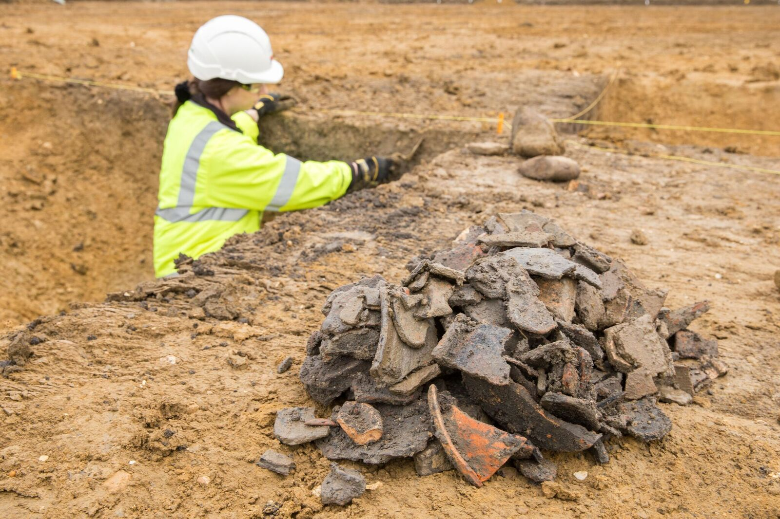 Collection of Roman pottery (c) Highways England, courtesy of MOLA Headland Infrastructure_preview