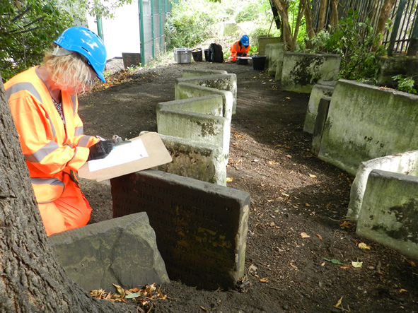 volunteers records gravestones St James's Gardens