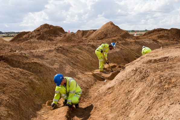 Thousands of kilogrammes of artefacts have been excavated on A14C2H (c) A14C2H courtesy of MOLA Headland Infrastructure