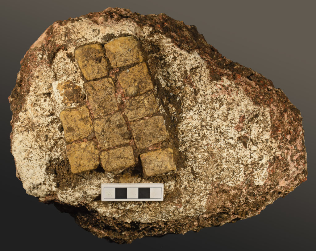 A piece of Roman Opus Signium flooring (c) A14C2H courtesy of MOLA Headland Infrastructure