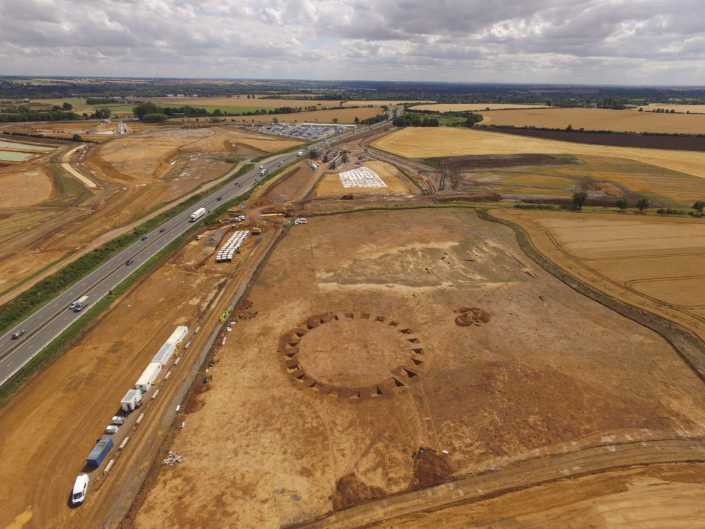 Circular 'henge' monument thought to have been used as a ceremonial space (c) A14C2H courtesy of MOLA Headland Infrastructure