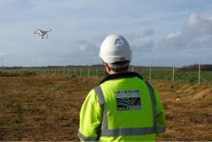 MOLA Headland drone pilot begins aerial survey (c) A14C2H courtesy of MOLA Headland Infrastructure