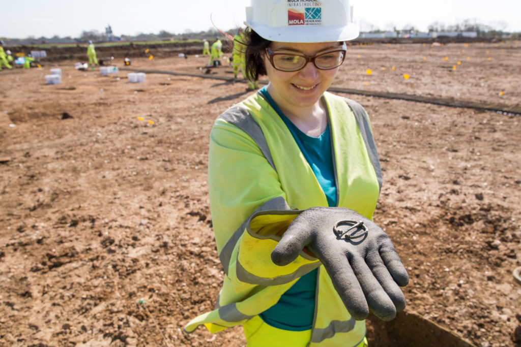 copper-alloy penannular brooch found near Brampton for the A14C2H (c) Highways England, courtesy of MOLA Headland Infrastructure