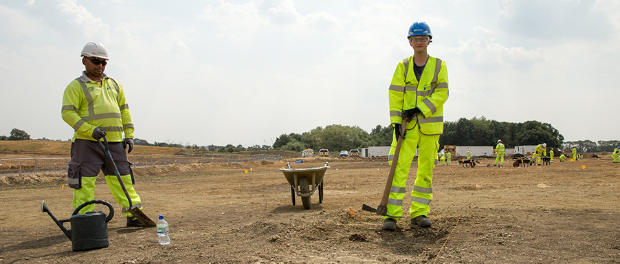 A14C2H Community Dig Volunteer Yannack (c) Highways England, courtesy of MOLA Headland Infrastructure