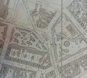 First edition Ordnance survey map of Birmingham, 1889