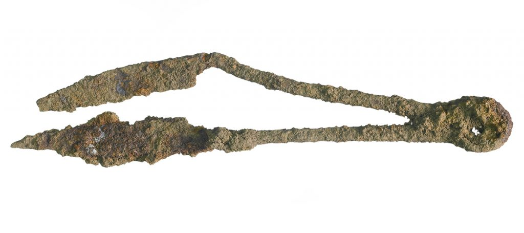 Anglo-Saxon shears (c) Highways England courtesy of MOLA Headland