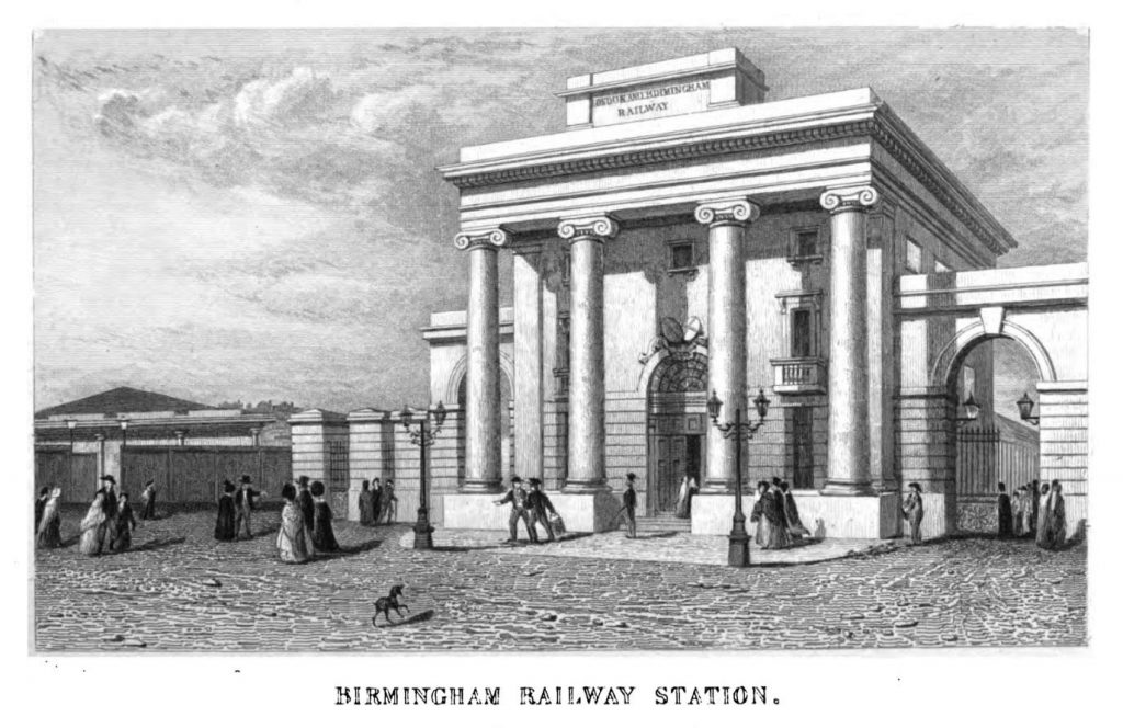 Engraving of Curzon Street Station